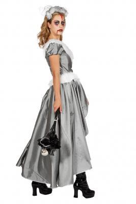 W4462-B silber Damen Rokoko Kostüm Schneekönigin Eisprinzessin - 2