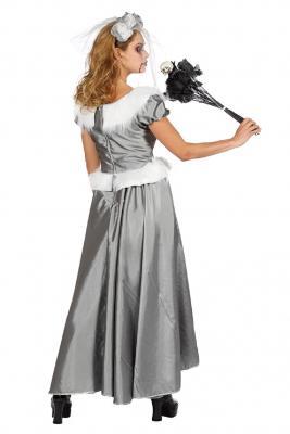 W4462-B silber Damen Rokoko Kostüm Schneekönigin Eisprinzessin - 3