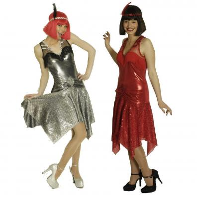 K31250667 rot Damen Variete Kleid Disco Kostüm - 1