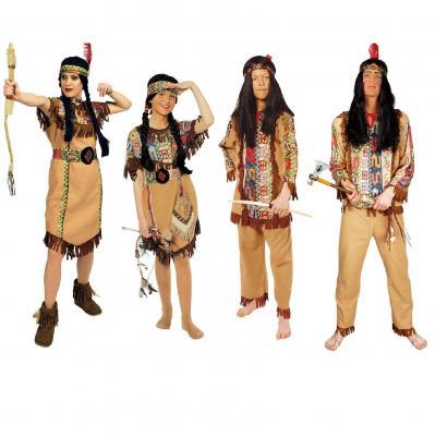 K31250652 braun Damen Indianerin Apachen Kleid - 2