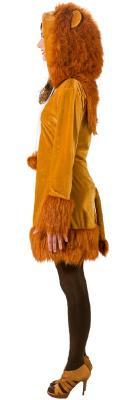 O9167 braun Damen Sexy Löwen Kleid Kostüm mit Mähne Löwe - 1