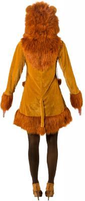 O9167 braun Damen Sexy Löwen Kleid Kostüm mit Mähne Löwe - 2