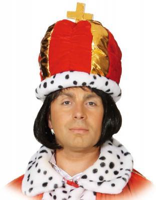 O7372 rot-weiß Damen Herren Königsmantel Prinzen Cape Kostüm Umhang Königsumhang - 1