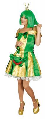 K31250309-A grün-gold Damen Frosch Kleid Froschköniginkostüm - 1