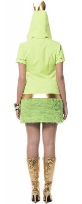 L3200820-A hell grün-gelb Damen Frosch Kleid Märchenkostüm - 1