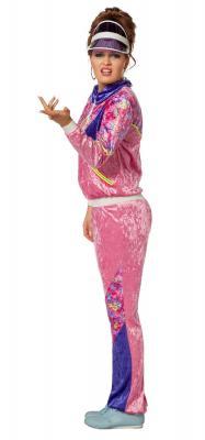 W4293 pink-lila Damen Jogging Anzug Sportanzug Partykostüm - 1