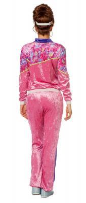 W4293 pink-lila Damen Jogging Anzug Sportanzug Partykostüm - 2