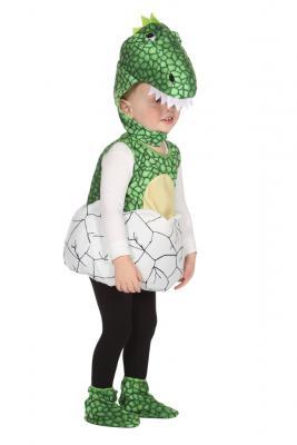W99354 grün-weiß Kinder Mädchen Junge Dino aus Ei Weste-Kostüm Dinosaurier - 1