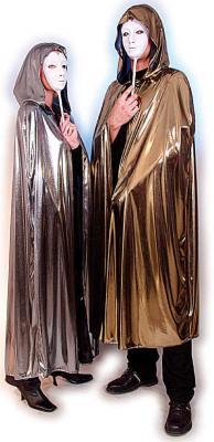 O723/O722 gold oder silber Damen Herren Kapuzenumhang Vampirkostüm - 1