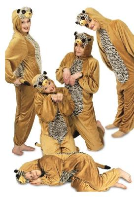 K332547-A braun Mädchen Junge Damen Erdmännchen Tier Kostüm - 1