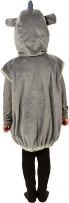 O5010-104 grau-weiß Kinder Mädchen Junge Nashorn Weste-Kostüm Gr.104 - 2