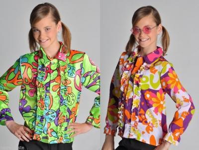 M207028-123-A bunt Mädchen Junge Kinder Hippy Kostüm-Hemd - 1