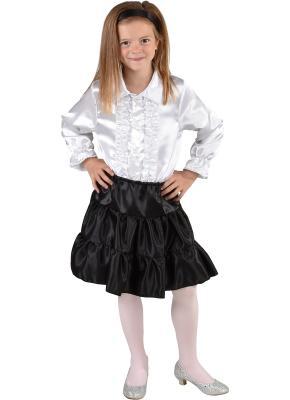 M212001-2 schwarz Kinder Satin Rock-Petticoat-Unterrock - 1
