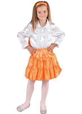 M212001-27 orange Kinder Satin Rock-Petticoat-Unterrock - 1