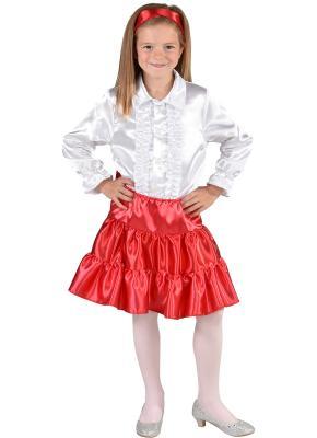 M212001-7 rot Kinder Satin Rock-Petticoat-Unterrock - 1