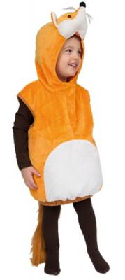 Oh2029-104-110 beige-weiß Kinder Fuchs Weste Kostüm Gr.104-110 - 1