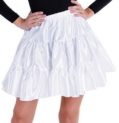 M211156-1 weiß Damen Satin-Petticoat-Unterrock - 1