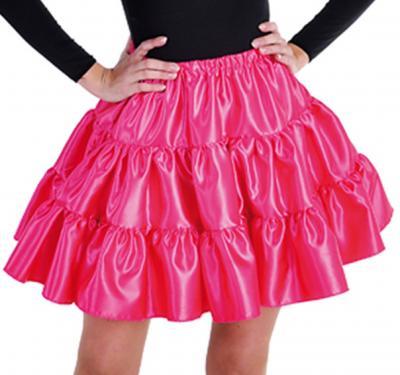 M211156-4 pink Damen Satin-Petticoat-Unterrock - 1