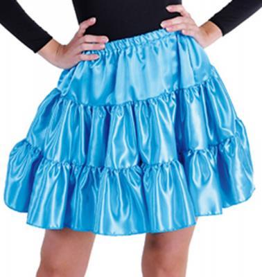 M211156-16 türkis Damen Satin-Petticoat-Unterrock - 1