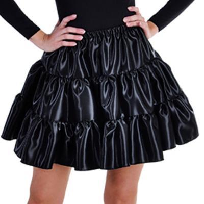 M211156-2 schwarz Damen Satin-Petticoat-Unterrock - 1