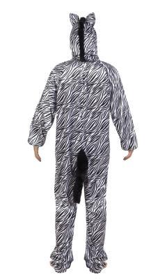 B88052 Kinder Damen Herren Zebra Overall-Kostüm - 1