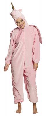B88062 rosa Kinder Mädchen Jungen Damen Herren Einhorn Overall-Kostüm - 1