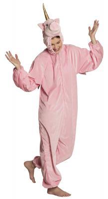 B88062 rosa Kinder Mädchen Jungen Damen Herren Einhorn Overall-Kostüm - 2
