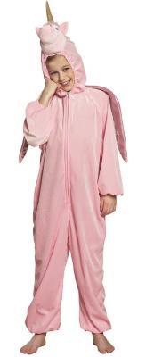 B88062 rosa Kinder Mädchen Jungen Damen Herren Einhorn Overall-Kostüm - 4