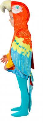 O5035-104 bunt Kinder Mädchen Junge Papagei Weste-Kostüm Gr.104 - 1