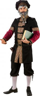 O7376 schwarz-weinrot Herren Burgherren Gutsherren Mittelalter Kostüm - 2