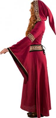 O9193 weinrot Damen Mittelalter Burgherrin Hofdame Kostüm Kleid - 1
