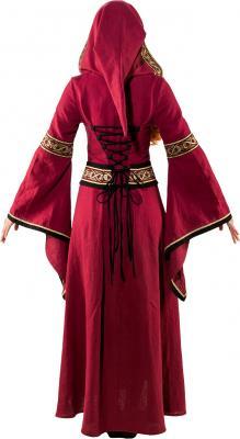 O9193 weinrot Damen Mittelalter Burgherrin Hofdame Kostüm Kleid - 2