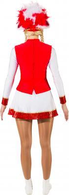 O9822-38 rot-weiß mit Goldborte Damen Funkenkostüm Mariechenkostüm Gr.38 - 3