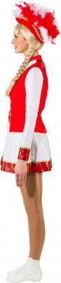 O9822 rot-weiß mit Goldborte Damen Funkenkostüm Mariechenkostüm - 2