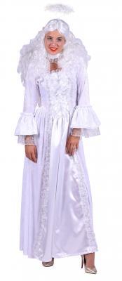 T2916 weiß-silber Damen Engel Weihnachts Kostüm - 1