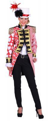 T2893-0502 rot-weiß Damen Uniform Jacke Kontrast - 1