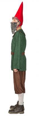 O7013 grün-braun Herren Zwergen Kostüm Robin Hood Jäger Bauer - 1