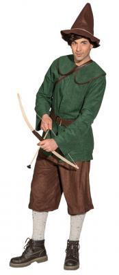 O7013 grün-braun Herren Zwergen Kostüm Robin Hood Jäger Bauer - 3