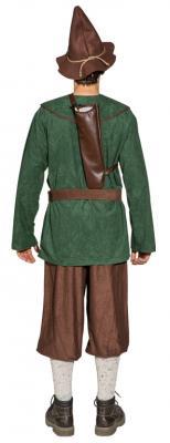 O7013 grün-braun Herren Zwergen Kostüm Robin Hood Jäger Bauer - 4