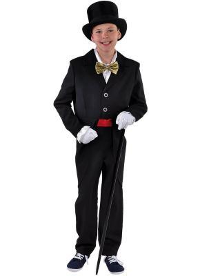 M205013-2 schwarz Kinder Frack Zirkus Kostüm - 1