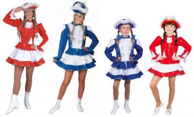O964 blau-weiß mit Silberborte Damen Funkenkostüm Mariechenkostüm - 1