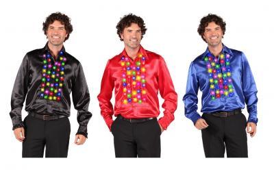 T2378-0140 schwarz-Multi-Color Herren Rüschenhemd Rüschenbluse Naos - 1