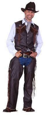 T2285-1300 braun Herren Cowboy Weste Trapper Weste - 1