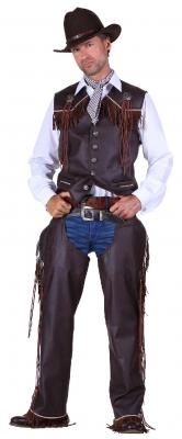 T2285-1300 braun Herren Cowboy Weste Trapper Weste - 2