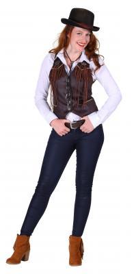 T2286-1300 braun Damen Cowgirl Weste Country Weste - 2
