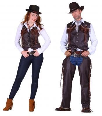 T2286-1300 braun Damen Cowgirl Weste Country Weste - 3