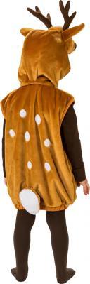 O5161-104 braun-weiß Kinder Junge Mädchen Reh Kostüm-Weste mit Kapuze Gr.104 - 2
