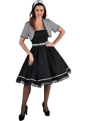 M220108 schwarz-weiß Damen Boogie Woogie Rock 'n Roll Tanzkleid - 1
