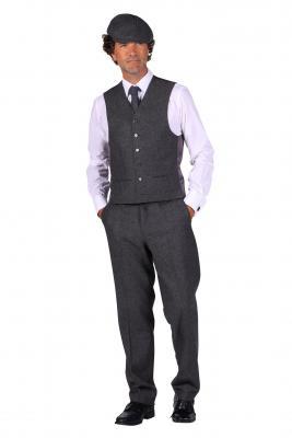 T3067-1600 grau Herren Krawatte Peaky blinder - 1