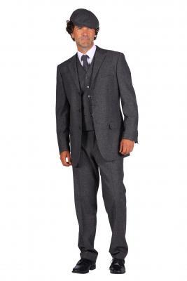 T3067-1600 grau Herren Krawatte Peaky blinder - 2